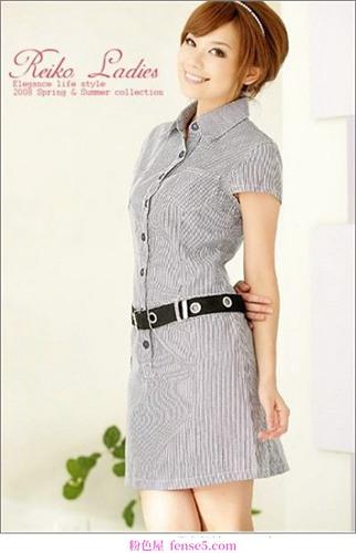 优雅干练的OL连衣裙