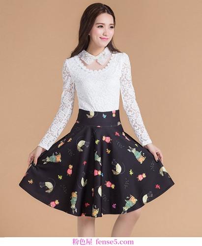 穿裙子的时尚复古风格让你变得漂亮,让人羡慕