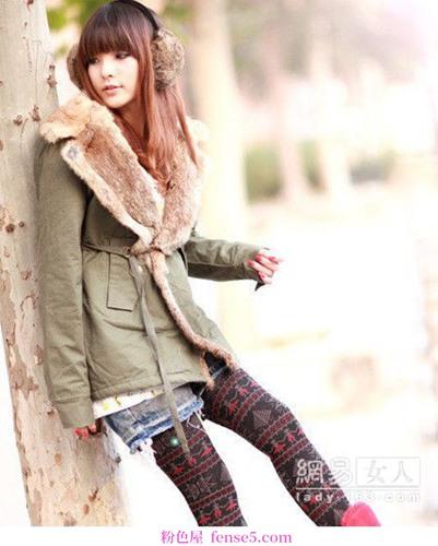 凉爽天气实用保暖连衣裙