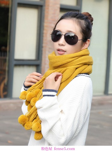 巧用围巾,时尚保暖