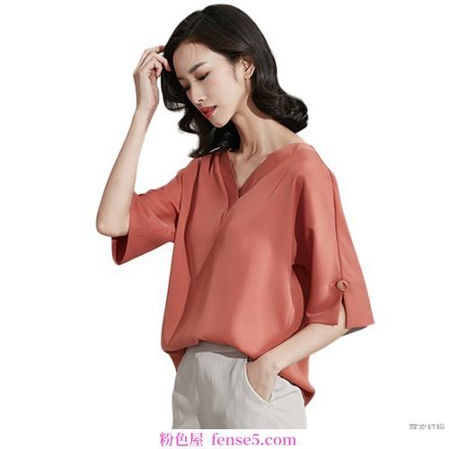 v领雪纺衬衫优雅、灵动、轻薄