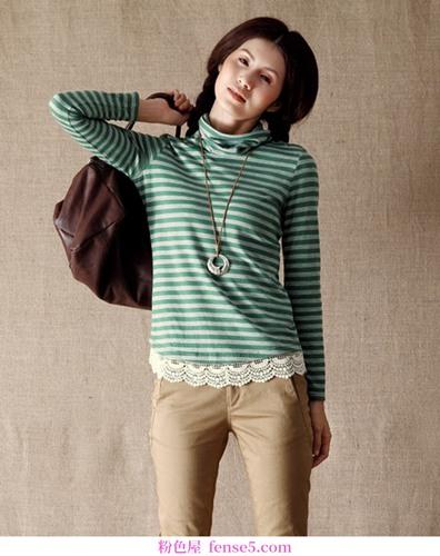 用长袖t恤打造各种秋季造型