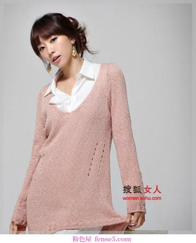 厚毛衣低调时尚