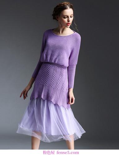 用阿玛尼高定开始一场紫色盛宴