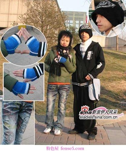 北京街头情人节情侣装扮