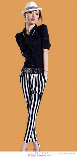 优雅的高筒裤(2)
