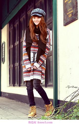 保暖毛衣的美丽搭配