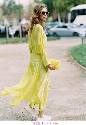 酸甜清凉的樱草黄色有效防热,显示精灵气质