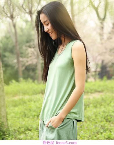 一抹充满绿色