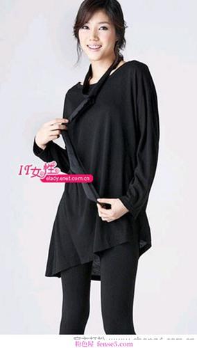 优雅的黑白套装