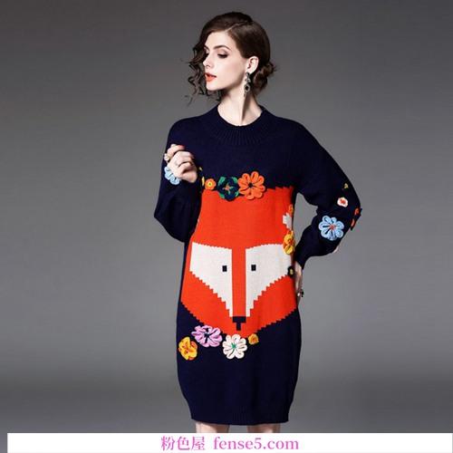 有图案设计的针织裙换季哪里难?